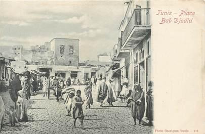 "CPA TUNISIE ""Tunis, Place Bab Djedid"""