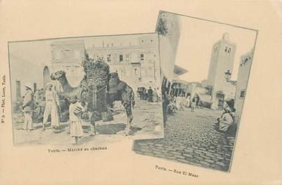 "CPA TUNISIE ""Tunis, Marché au charbon"""