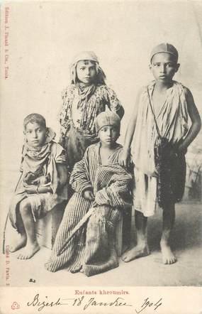 """CPA TUNISIE """"Enfants Khroumirs"""""""