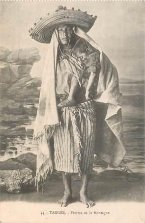 """CPA MAROC """"Tanger, Femme de la Montagne"""""""