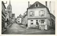 """77 Seine Et Marne / CPSM FRANCE 77 """"Lorrez le Bocage, rue de l'église et la poste"""""""