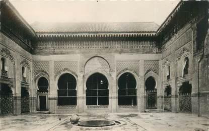 """CPSM MAROC """"Fes, cour de la Medersa de Bou Anania"""""""
