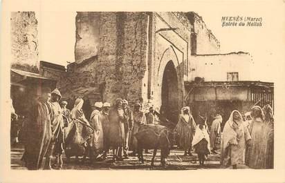 """CPA MAROC """"Meknès, entrée du Mellah"""""""