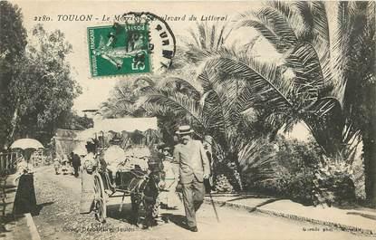 """CPA FRANCE 83 """"Toulon, le Mourillon, bld du Littoral"""" / ANE"""