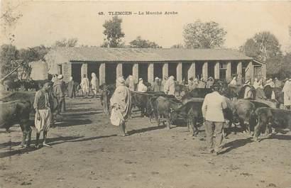 """CPA ALGERIE """"Tlemcen, le marché"""""""