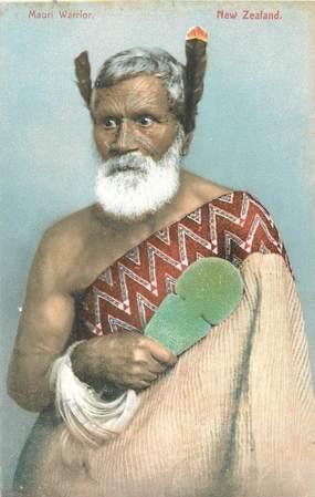 """CPA NOUVELLE ZELANDE """"Guerrier Maori"""""""