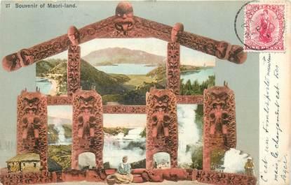 "CPA NOUVELLE ZELANDE ""Maori Land"" / OBLITERATION"