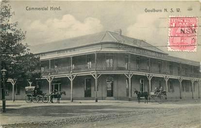 "CPA AUSTRALIE ""Goulburn, Commercial Hotel"" / OBLITERATION"