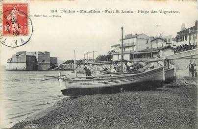 """CPA FRANCE 83 """"Toulon, le Mourillon, Fort Saint Louis, Place des Vignettes"""""""