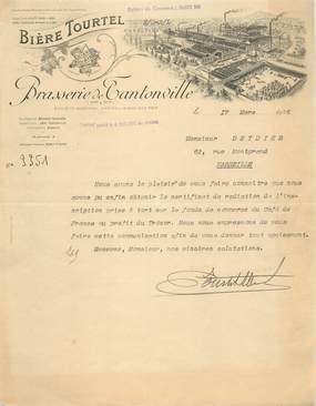 "FACTURE FRANCE 54 ""Brasserie TOURTEL, Tantonville, 1926"" / BIERE"