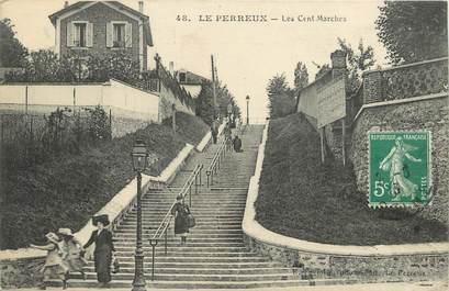 """CPA FRANCE 94 """"Le Perreux, les cent marches"""""""