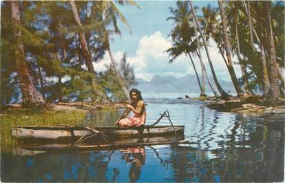 "CPSM TAHITI ""Retour de la pêche"""
