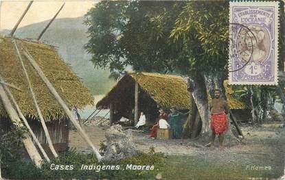 """CPA TAHITI """"Case indigène, Moorea"""""""