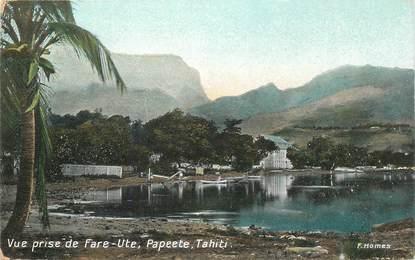 """CPA TAHITI """"Papeete, vue prise de Fare Ute"""""""