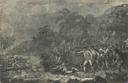 "CPA TAHITI ""Mort du capitaine aux Iles Sandwich"""