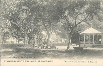 "CPA TAHITI ""Papeete, Place du Gouvernement"""