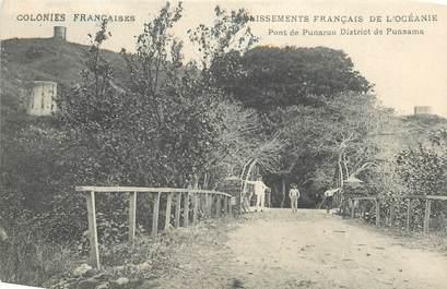 "CPA TAHITI ""Pont de Punaruu Disrict de Punaama"""