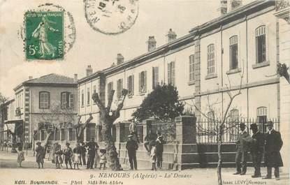"""CPA ALGERIE """"Nemours, la Douane"""" / Ed. Isaac LEVY"""
