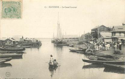 """CPA GUYANE """"Cayenne, le Canal Laussat"""""""