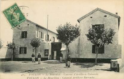 """CPA FRANCE 83 """"Toulon, le Mourillon, caserne d'artillerie coloniale"""""""