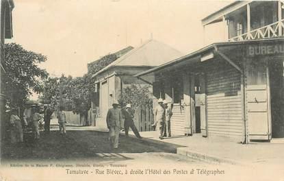 """CPA MADAGASCAR """"Tamatave, rue Blévec, postes et télégraphes"""""""