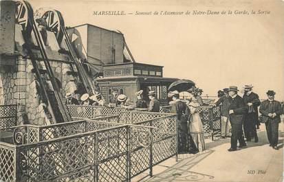 """CPA FRANCE 13 """"Marseille, sommet de l'ascenseur de Notre Dame de la Garde"""""""