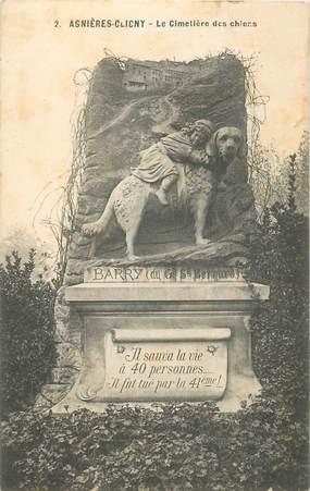 """CPA FRANCE 92 """"Asnières Clichy, Cimetière de chiens"""""""