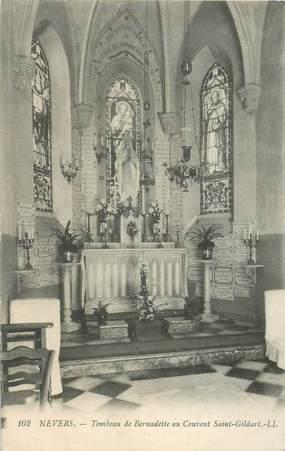 """CPA FRANCE 58 """"Nevers, Tombeau de Bernadette au couvent St Gildart"""""""