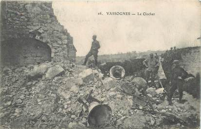 "CPA FRANCE 02 ""Vassognes, le clocher"""