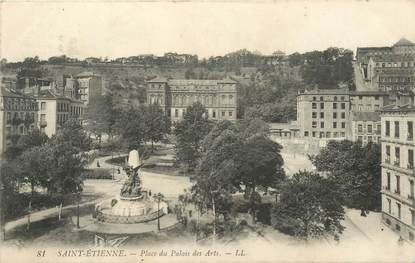 """CPA FRANCE 42 """"Saint Etienne, Place du Palais des Arts"""""""
