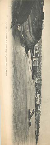 "CPA PANORAMIQUE FRANCE 64 ""Biarritz, panorama de la Grande plage"""