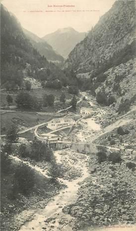 """CPA PANORAMIQUE FRANCE 65 """"Cauterets, entrée du Val de Jeuet, le Gave et le Pic de Gaube"""""""