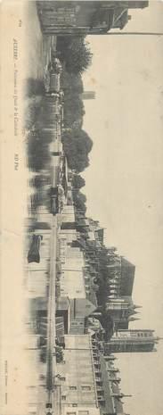 """CPA PANORAMIQUE FRANCE 89 """"Auxerre, Quais et Cathédrale"""""""