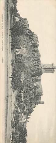 """CPA PANORAMIQUE FRANCE 43 """"Env. du Puy, Ruines du Chateau de Polignac"""""""