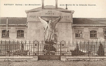 """CPA FRANCE 92 """"Antony"""" MONUMENT AUX MORTS"""