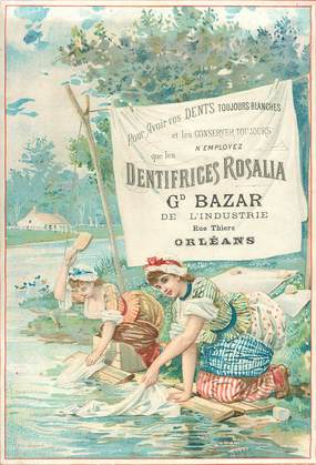 "CARTE PUBLICITAIRE ""Dentifrice Rosalia"" / DENT"