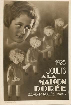 """LIVRET PUBLICITAIRE """"A la Maison dorée, 1928"""" / JOUET / POUPEE"""