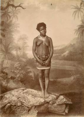 RARE PHOTO AFRIQUE NOIRE / NU / SCARIFICATION