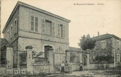 "CPA FRANCE 26 ""Saint Romain d'Albon, Ecoles"""