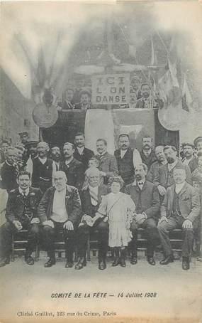 """CPA FRANCE 75019 """"Paris, Comité des Fêtes, 1908, rue de Crimée"""""""