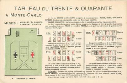 CPA JEU / CASINO / MONACO / CARTES
