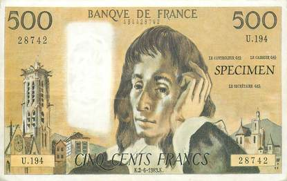 CPSM REPRODUCTION BILLET BANQUE 500 Francs