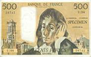Theme CPSM REPRODUCTION BILLET BANQUE 500 Francs