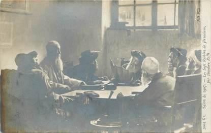"""CPA JUDAICA """"Sept Rabbins de Jérusalem"""" / Salon 1907"""