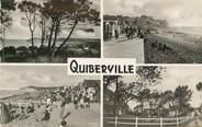"""76 Seine Maritime / CPSM FRANCE 76 """"Quiberville, vue prise des falaises"""""""
