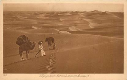 """CPA SCENES ET TYPES / LEHNERT & LANDROCK / TRES BON ETAT """"Voyage d'un Harem à travers le désert, N°148"""""""