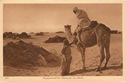 """CPA SCENES ET TYPES / LEHNERT & LANDROCK / TRES BON ETAT """" Campement de bédouines au désert, N° 184"""""""