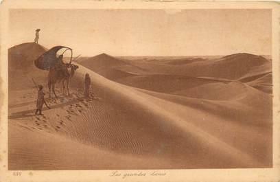 "CPA SCENES ET TYPES / LEHNERT & LANDROCK / TRES BON ETAT ""Les grandes dunes, N° 232"""