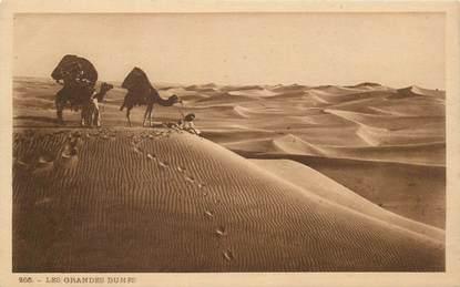 "CPA SCENES ET TYPES / LEHNERT & LANDROCK / TRES BON ETAT ""Les Grandes dunes, N° 266"""