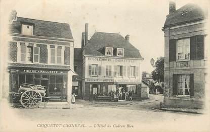"""/ CPA FRANCE 76 """"Criquetot l'Esneval, l'hôtel du cadran Bleu"""""""